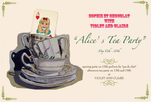 """Alice's Tea Party""/violet and claire"