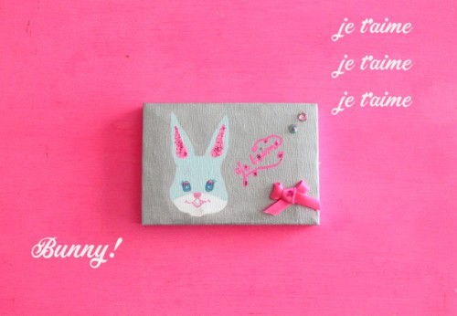 "mini mini canvas ""BUNNY"""